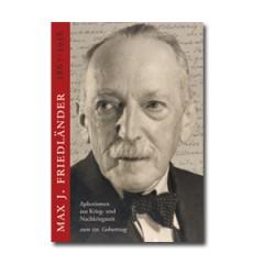 Boek Max J. Friedländer – Aphorismen aus Krieg- und Nachkriegszeit