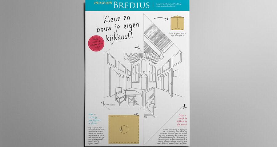 Kleurplaat perspectiefkast Museum Bredius