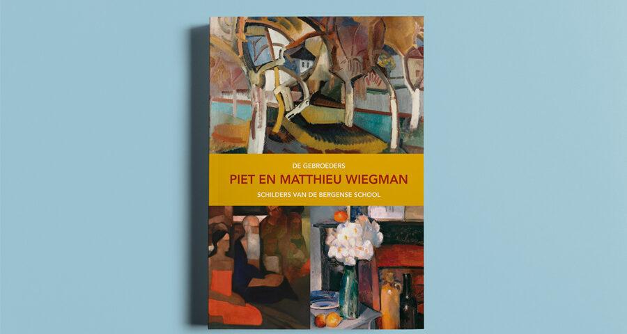 Herziene cover kunstcatalogus Piet en Matthieu Wiegman